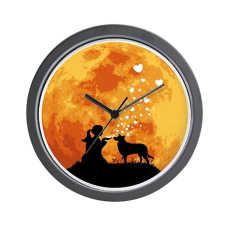 Smooth-Collie22 Wall Clock