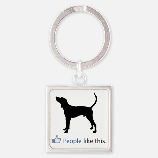 Treeing-Walker-Coonhound03 Square Keychain