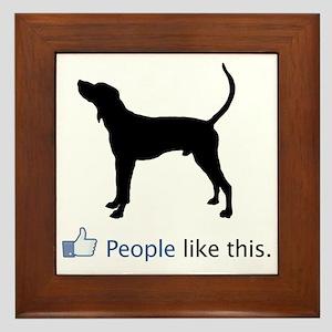 Treeing-Walker-Coonhound03 Framed Tile