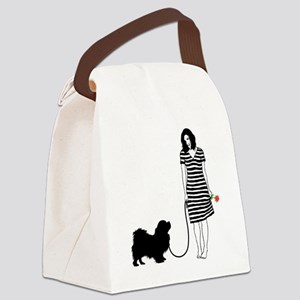 Tibetan-Spaniel11 Canvas Lunch Bag