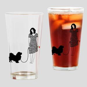 Tibetan-Spaniel11 Drinking Glass