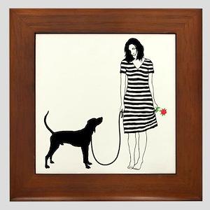 Treeing-Walker-Coonhound11 Framed Tile