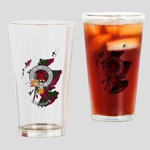 Clan Crawford Crest Drinking Glass