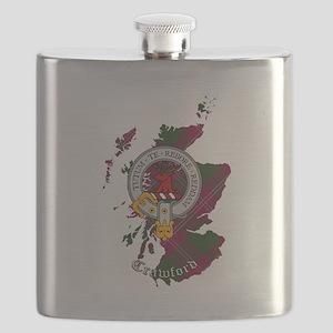 Clan Crawford Crest Flask