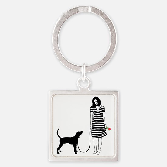 Treeing-Walker-Coonhound11 Square Keychain