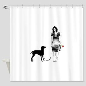 Vizsla11 Shower Curtain