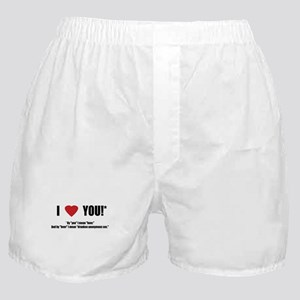 By you I mean Beer Boxer Shorts