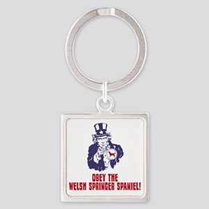 Welsh-Springer-Spaniel18 Square Keychain