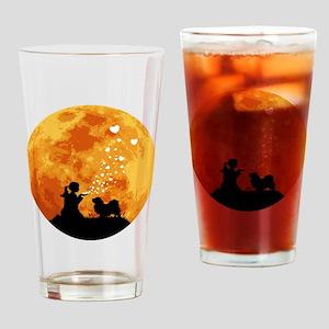 Tibetan-Spaniel22 Drinking Glass