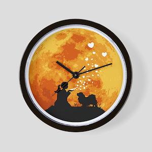 Tibetan-Spaniel22 Wall Clock