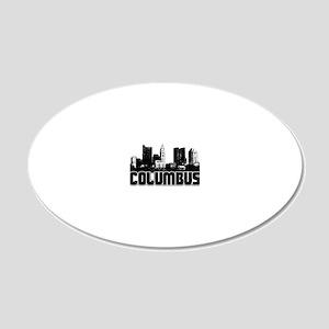 Columbus Skyline 20x12 Oval Wall Decal