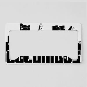 Columbus Skyline License Plate Holder