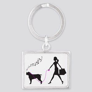 Wirehaired-Pointing-Griffon32 Landscape Keychain