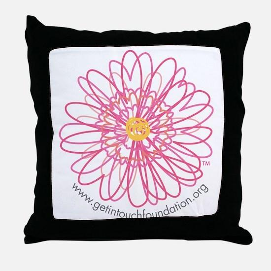 2-girls-daisy-no-bg Throw Pillow
