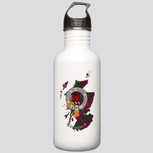 Clan Crawford Crest Stainless Water Bottle 1.0L