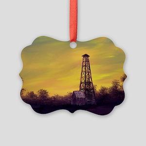 old derick sunset large framed pr Picture Ornament