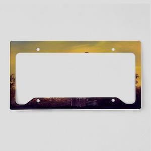 old derick sunset large frame License Plate Holder