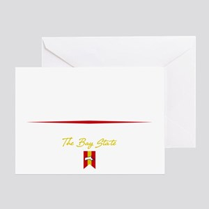 Boston Script B Greeting Card