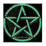 Green Pentacle Altar Tile