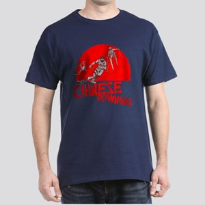 Chinese Downhill Navy Blue T-Shirt