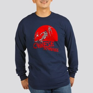 Chinese Downhill Long Sleeve Navy T-Shirt