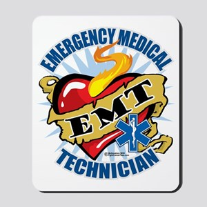 EMT-Classic-Tattoo-Heart Mousepad