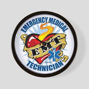 EMT-Classic-Tattoo-Heart Wall Clock