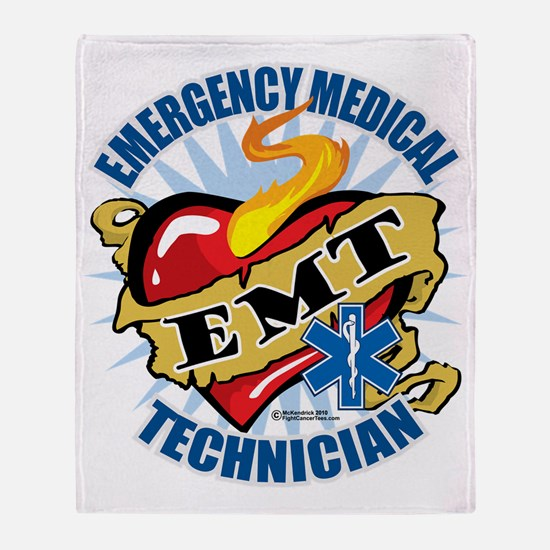 EMT-Classic-Tattoo-Heart Throw Blanket