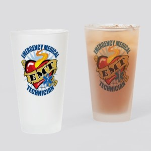 EMT-Classic-Tattoo-Heart Drinking Glass