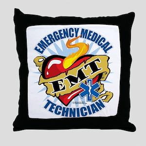 EMT-Classic-Tattoo-Heart Throw Pillow