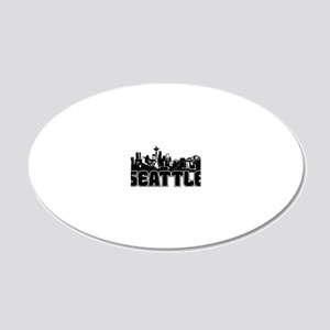 Seattle Skyline 20x12 Oval Wall Decal