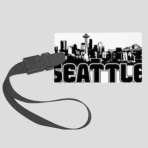 Seattle Skyline Large Luggage Tag