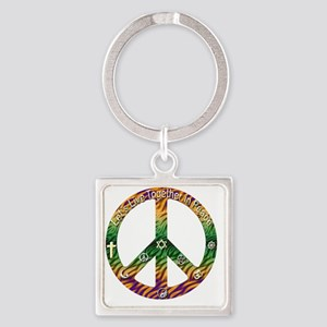 peace copy Square Keychain