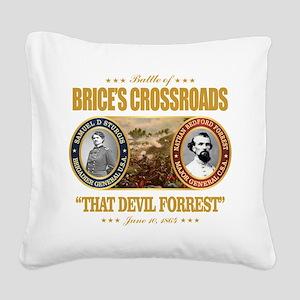 Brice's Crossroads Square Canvas Pillow