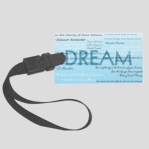 DreamsPostCard Large Luggage Tag