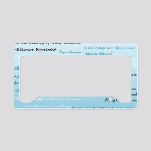 DreamsPostCard License Plate Holder