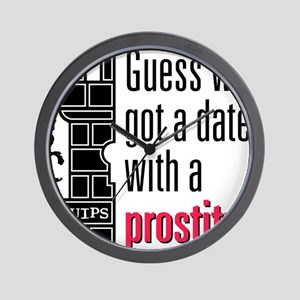 Quips_Prostitute_lite-crop Wall Clock