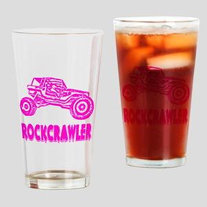Rock Crawler_1013_pink Drinking Glass