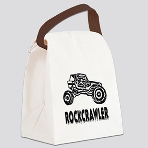 Rock Crawler_1012_black Canvas Lunch Bag