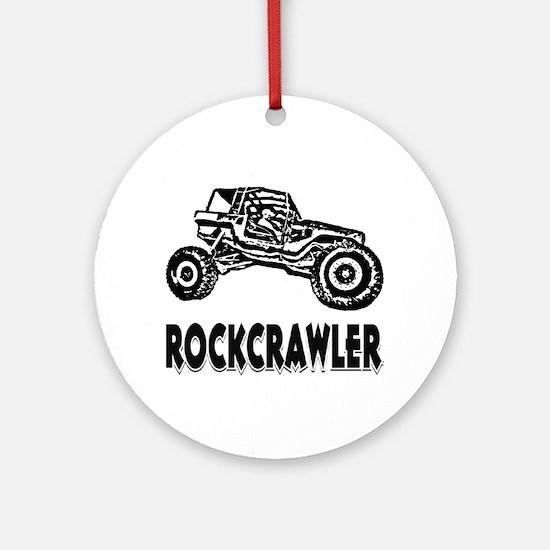 Rock Crawler_1012_black Round Ornament