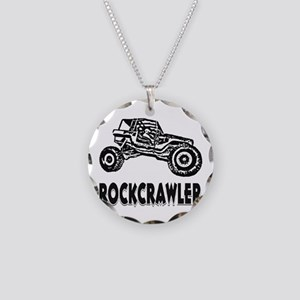 Rock Crawler_1012_black Necklace Circle Charm
