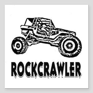 "Rock Crawler_1012_black Square Car Magnet 3"" x 3"""