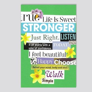 stronger16x20green Postcards (Package of 8)