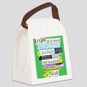 stronger16x20green Canvas Lunch Bag