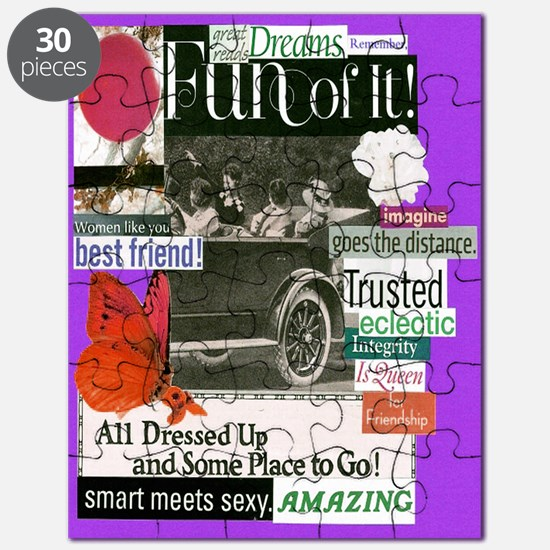 bestfriends16x20purp Puzzle