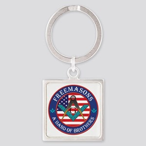 Band Of Brother Masons Square Keychain