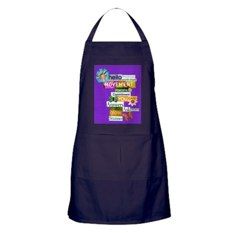 beautifulyou16x20purp Apron (dark)
