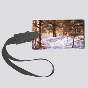 In to the woods Large Luggage Tag