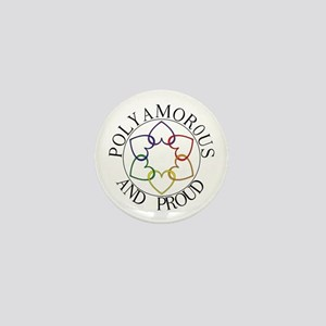 Poly and Proud circle logo Mini Button