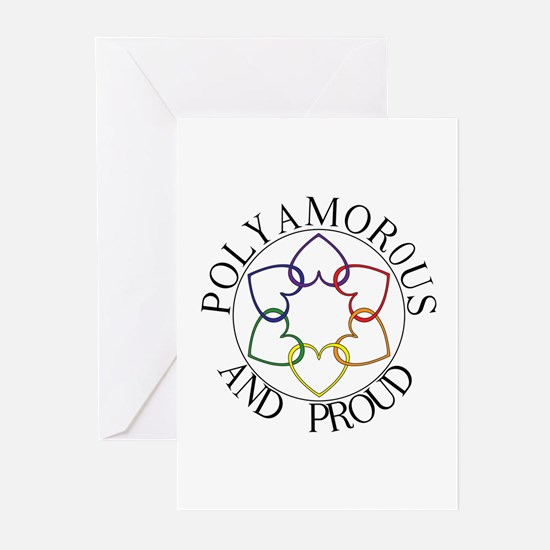 Poly and Proud circle logo Greeting Cards (Package